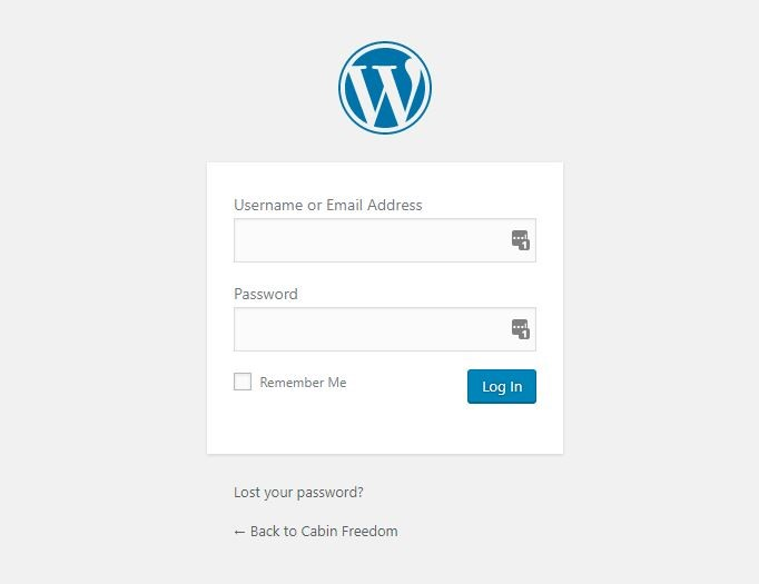 wp-log in form